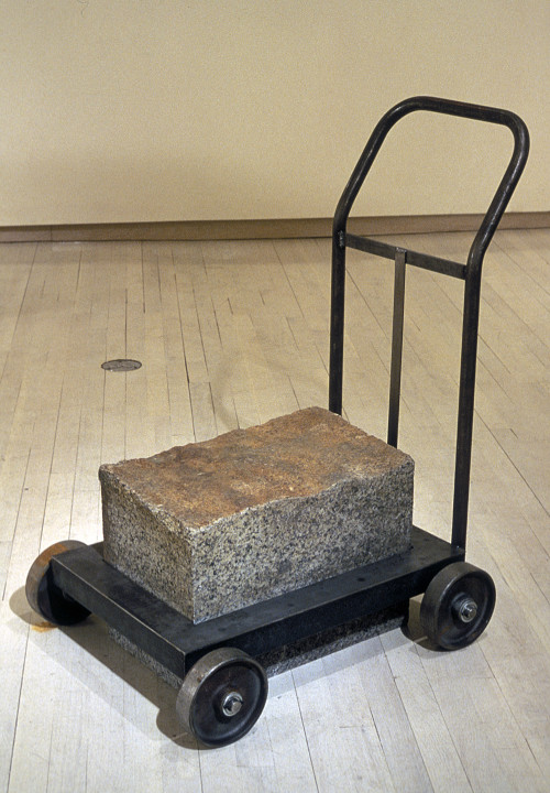 Carted Block/Blocked Cart (3'x2.5'x1.5') granite, steel