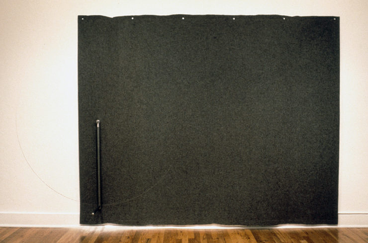 Scribe (7'x10.5'x1.5') felt, steel (Collection San Diego Museum of Contemporary Art)