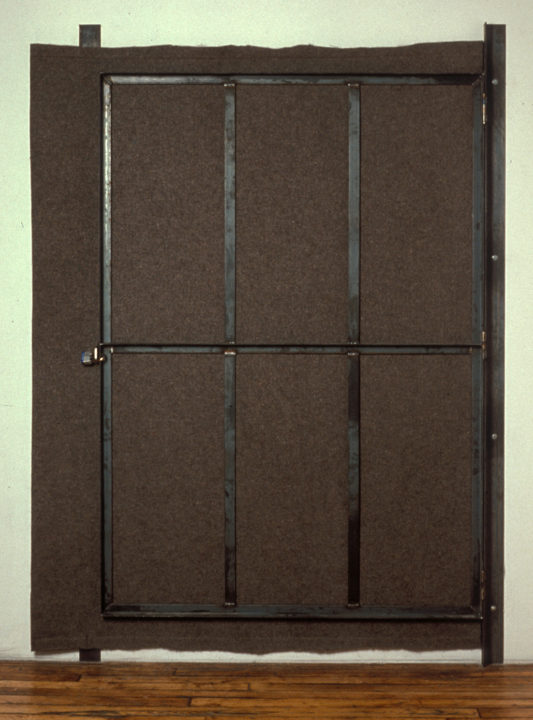 "Estate (90""x66""x3"") felt, steel, lock"