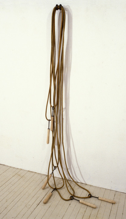 Loops (8'x4'x2') rope, steel, wood, paint