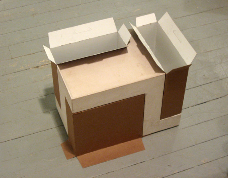 Open-Up-Down hydrocal, cardboard box